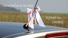 Kostenlose Anleitung, wie Sie Autoschleifen binden können. Machen Sie schöne Hochzeitsschleifen selbst und dekorieren Sie damit Iht Auto!