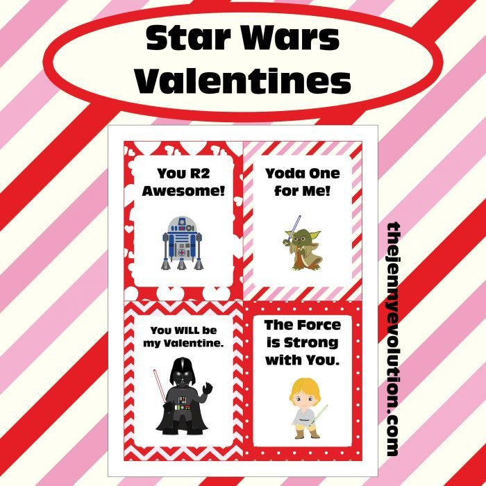 Free Printable Star Wars Valentine Cards will win anyone over -- even if they root for the dark side. | The Jenny Evolution