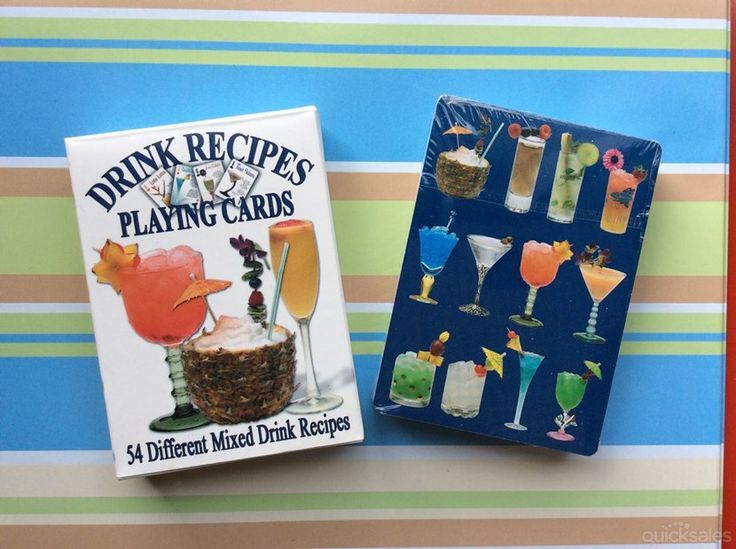 Drink Recipes playing cards, full deck un-opened by tassiesingers_collectables - $12.50