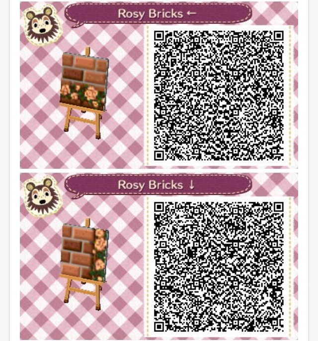 Acnl rosy brick path again acnl pinterest brick for Floor qr codes new leaf