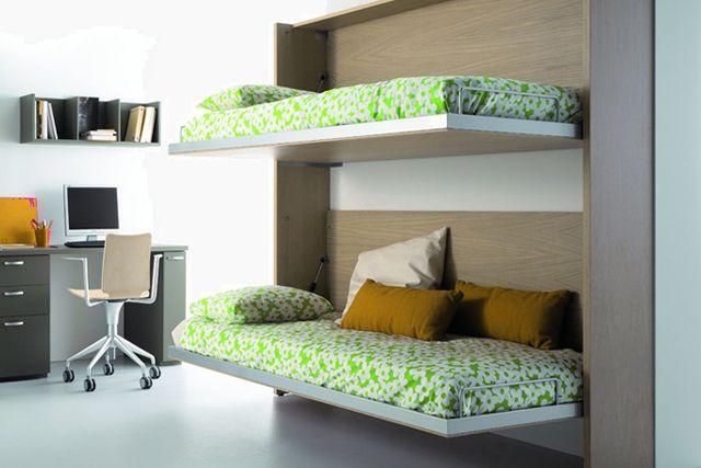 Camas para habitaciones con poco espacio decora y m s - Habitaciones juveniles espacios pequenos ...