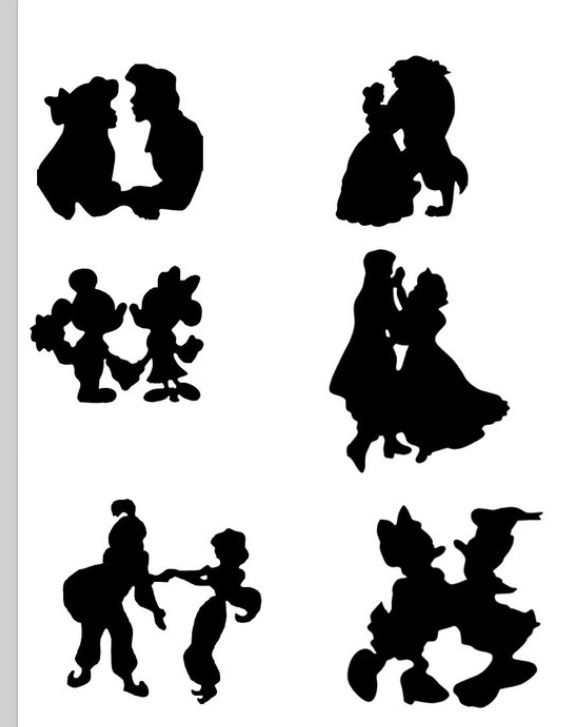 Disney Couple Silhouettes  School Dances Pinterest