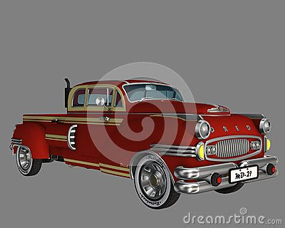 Old Red Pickup Truck - Download From Over 28 Million High Quality Stock Photos, Images, Vectors. Sign up for FREE today. Image: 48538377