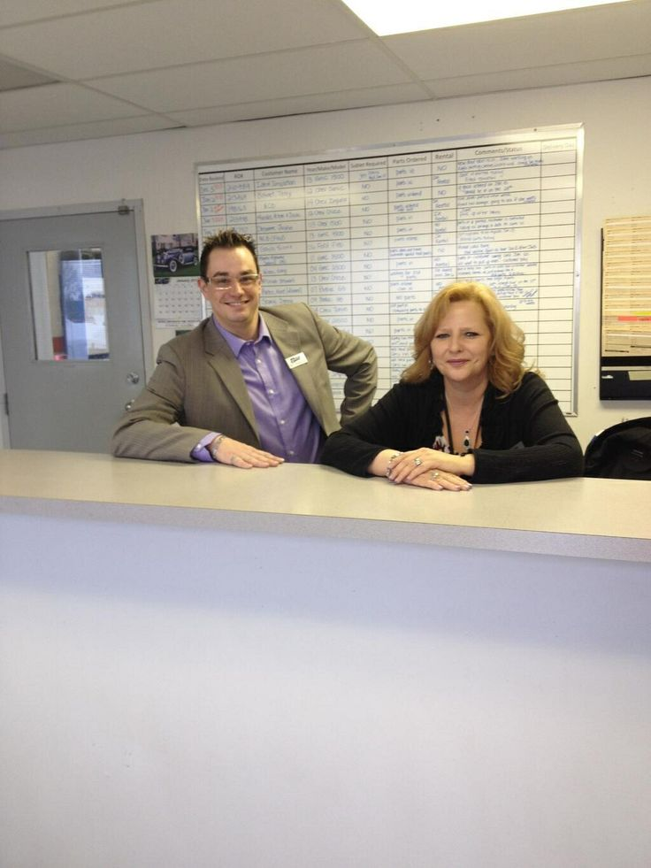 Our body shop team! Shelly and mike!