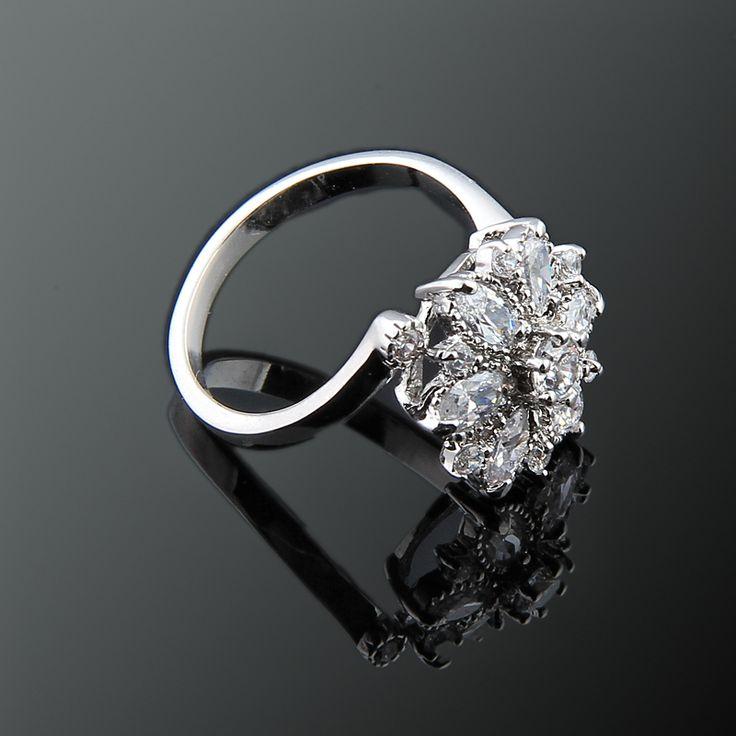 Glory Yüzük - Avusturya kristali - Swarovski taşlar - Altın kaplama - Aksesuar - Yüzük - Dalya Takı Austrian Crystal - Swarovski stones - Accessory - Ring - Flower