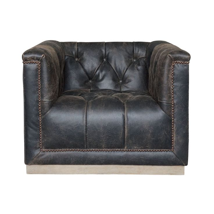 (http://www.zinhome.com/maxx-distressed-black-leather-swivel-club-chair/)