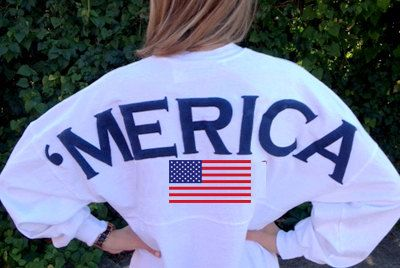 Merica Oversized Spirit Jersey with Monogram by AmericanGirlStyles, $55.00 want want!!