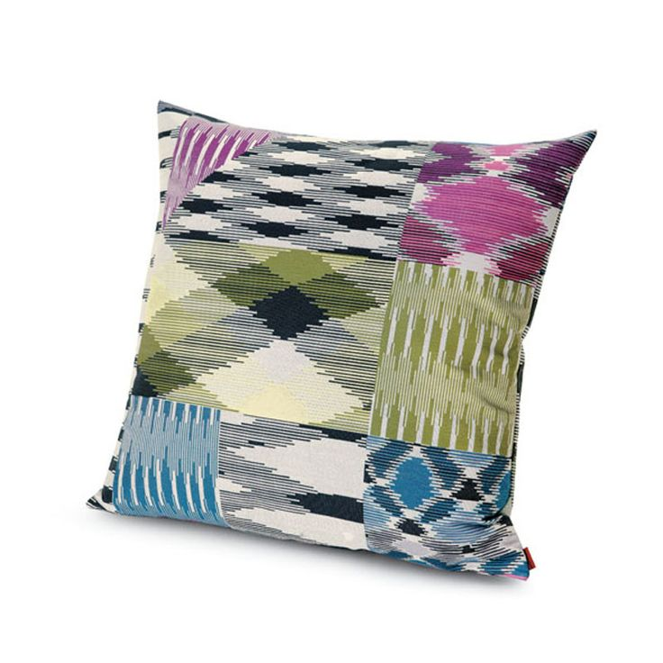 Part of the Missoni Home 2014 living collection Patch is a multicoloured cotton jacquard cushion. A contemporary design that is suitable for use on the sofa or bed. Pair with bright colours to make a bold statement or place on crisp white linen to dress your bedroom.* individual cushions may vary due to the fabrics repeat scale and position