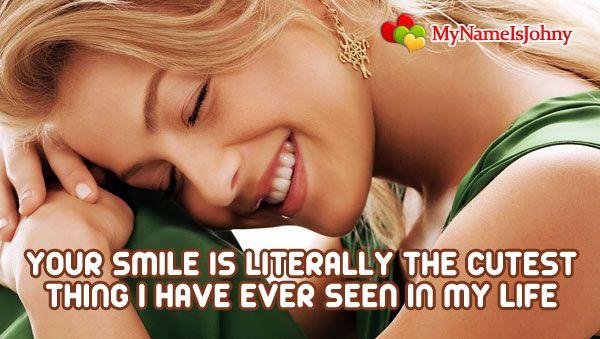 Cute smile...