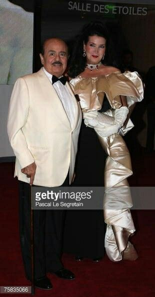 "The greatest man alive Adnan Khashoggi with his wife Lamia an Italian orgion they had together a handsome son ""Ali"""