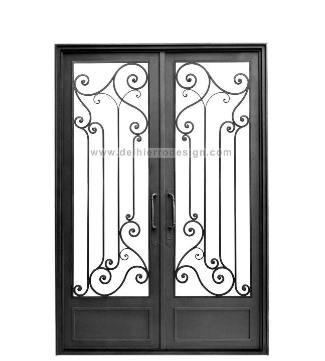 17 mejores ideas sobre portones de hierro forjado en for Modelos de puertas de hierro con vidrio