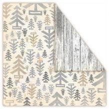 """UHK Gallery - LOFT CHRISTMAS """"Wood"""" - scrapbooková čtvrtka"""
