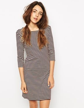 This striped jersey dress will easily become one of your go-to items. http://asos.to/1mfau78