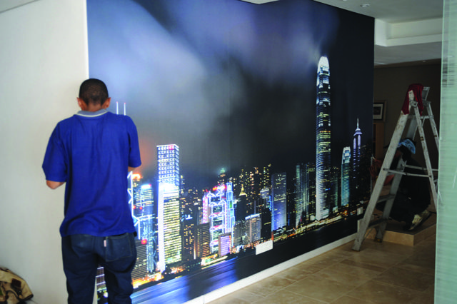 City Scape wallpaper installed for Jacob Wiese