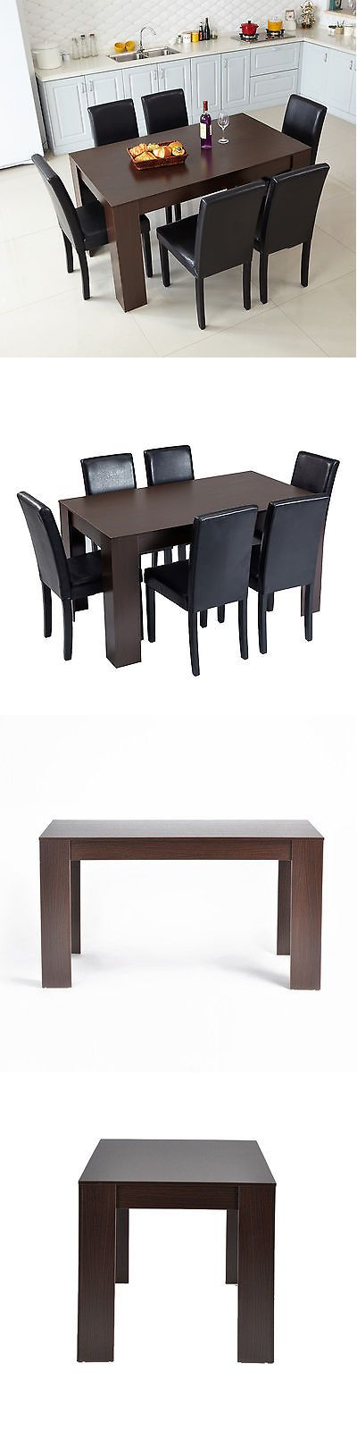 Dining Sets 107578: Wooden Dining Table Walnut Colour Dining Room Home Furniture Kitchen Table -> BUY IT NOW ONLY: $99.99 on eBay!