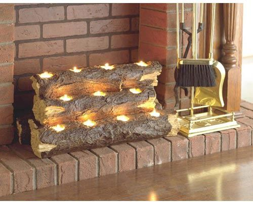 Luminara candles and Fire place decor