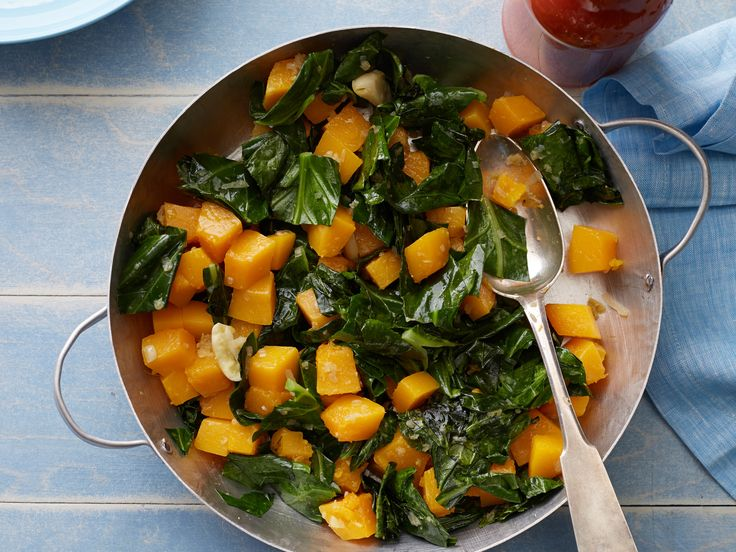 Braised Collard Greens and Butternut SquashFood Network, Side Dishes, Braised Collard, Collard Greens, Butternut Squashes, Network Kitchens, Squashes Recipe, Dishes Stars, Braised Green