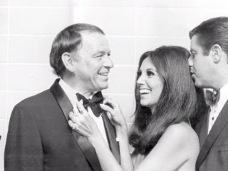 Frank Sinatra, Marlo Thomas and Jerry Lewis
