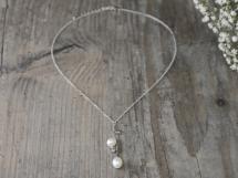 Halskette Süßwasserperlen