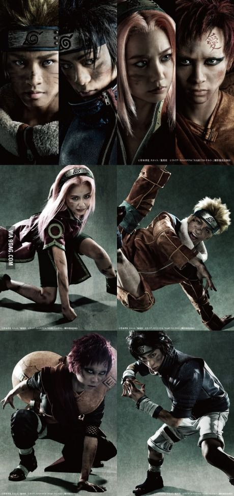 Naruto in real life! ... Some of these I like, and some I don't. But overall I like the concept. I know this is just cosplay, but live action adaptations don't often meet up to my expectations, but I'm always down to give it a chance.