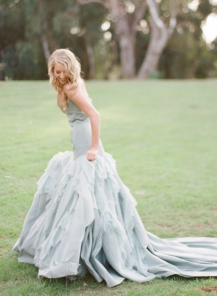 blue wedding dress | Photography: Blush Wedding Photography - blushweddingphotography.comWedding Dressses, Blushes Wedding, Wedding Photography, Blush Weddings, Blue Dresses, Dusty Blue, Wedding Gowns, Blue Weddings, La Tours