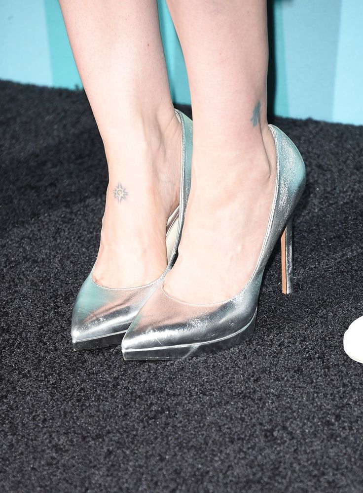 Actress Sarah Paulson, shoe detail, attends Entertainment Weekly's Comic-Con 2015 Party sponsored by HBO, Honda, Bud Light Lime and Bud Light Ritas at FLOAT at The Hard Rock Hotel on July 11, 2015 in San Diego, California.