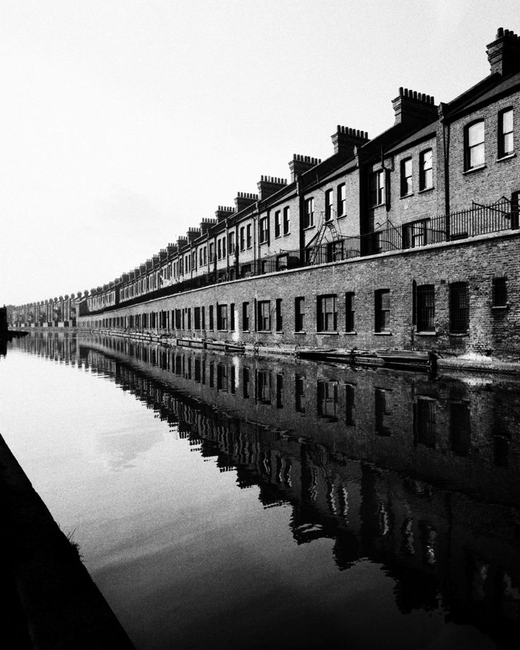 Grand Union canal, Paddington branch, c.1938.  Bill Brandt  These buildings still exist and are on the Harrow Road.