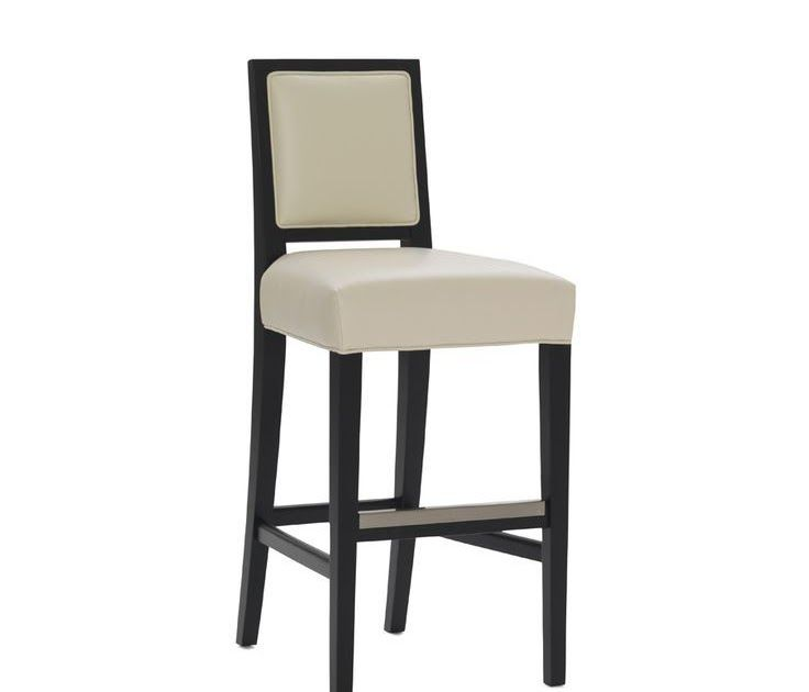 A Sophisticated Silhouette For A Casual Dining Our Brewster Leather Bar Stool Sports A Modern Exposed Frame And Kick Plate In A Cool Nickel Finish Barstool