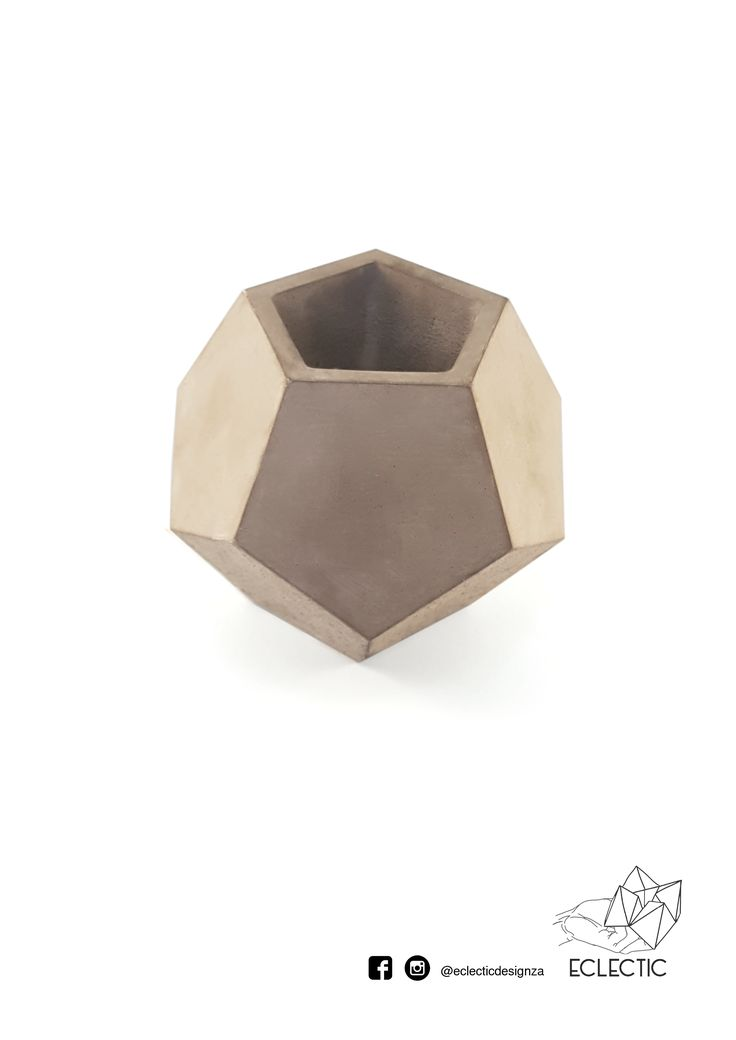 Dodocahedron vase - Light grey