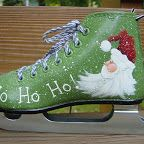 tole painted ice skates | skates, baby shoe candles