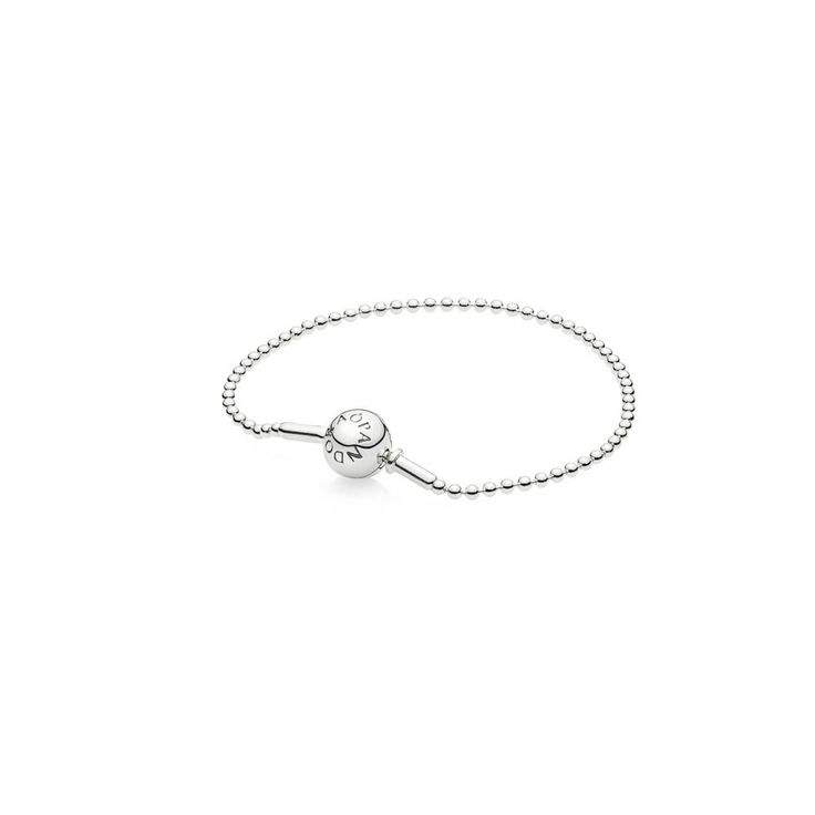 Srebrna bransoletka z PANDORA ESSENCE COLLECTION wykonana z delikatnych, błyszczących kulek. Wyraź siebie, zbierając charmsy symbolizujące Twoje osobiste wartości.