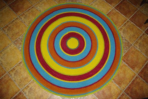 Large crochet round rug 614'' 156 cm/Crochet by AnuszkaDesign, $150.00