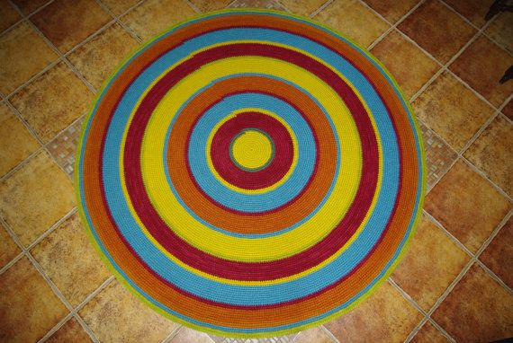 Large crochet round rug 614'' 156 cm/Crochet by AnuszkaDesign, $150.00