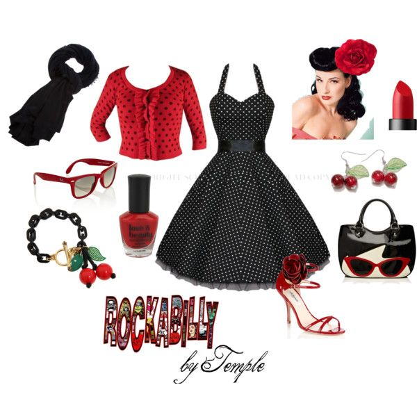 Rockabilly, created by julia-harding-humphries on Polyvore