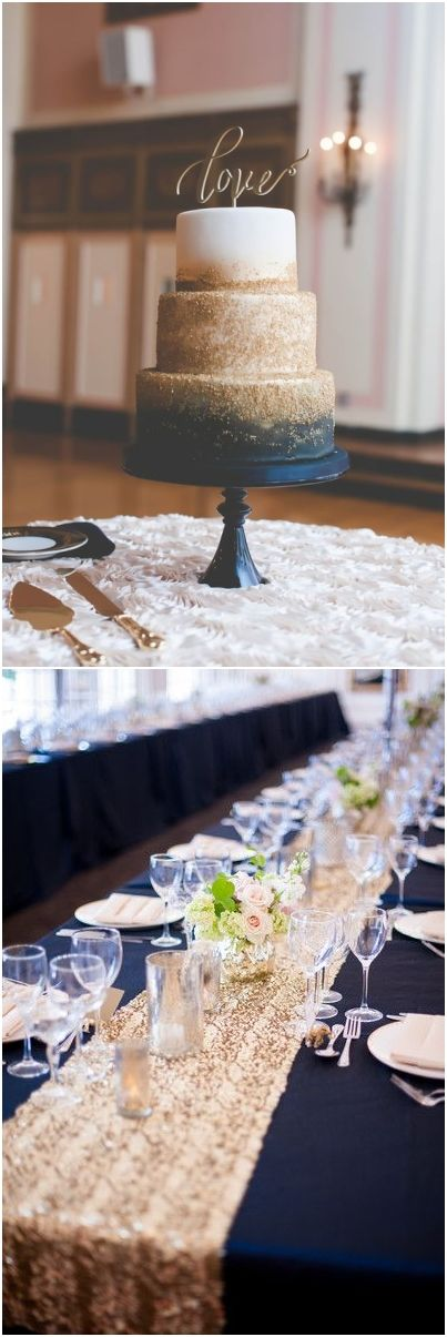 navy blue and gold wedding color combo ideas for 2018 #blueweding #weddingcolors #weddingideas / http://www.deerpearlflowers.com/navy-blue-wedding-color-combo-ideas/