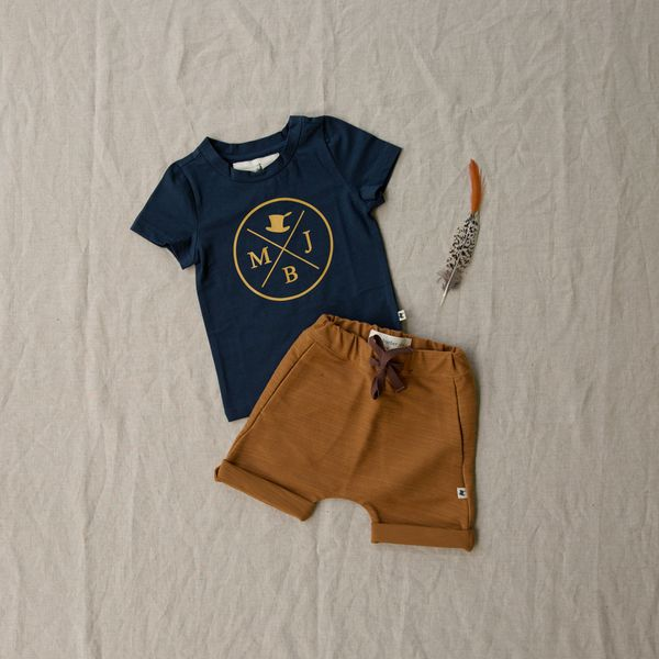 My Brother John is an Australian kids clothing label making trendy little boys clothing for the stylish little boy. Our little boys shorts use soft stretch fabrics, perfect for a baby boy nappy cover!