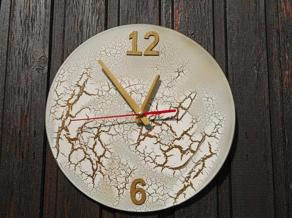 Modern Wall Clock Minimalist Office Clock For Wall Silent Etsy Wall Clock Clock Wall Art Office Wall Clock