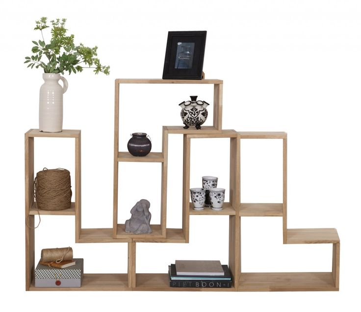 Stapelkast/roomdivider Tetris Eiken WOOOD (Set Van 4 Elementen ) Good Ideas