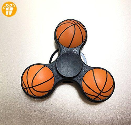 kotiger Basketball Muster zappeln Hand Spinner Rad Spielzeug für Kinder Erwachsene Stress Relief reduzieren (schwarz) - Fidget spinner (*Partner-Link)