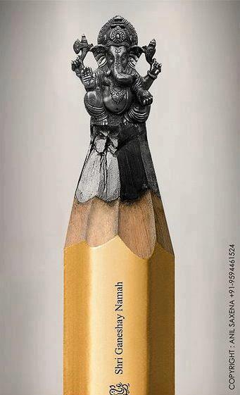 Car il y a des gens très minutieux !! Amazing Sculptured on Pencil Tip, created by Anil Saxena - un coup de coeur de http://touch-arts.com/