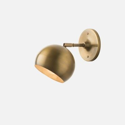 Isaac Sconce Brass - Short Arm | Wall Sconce Fixtures | Lighting