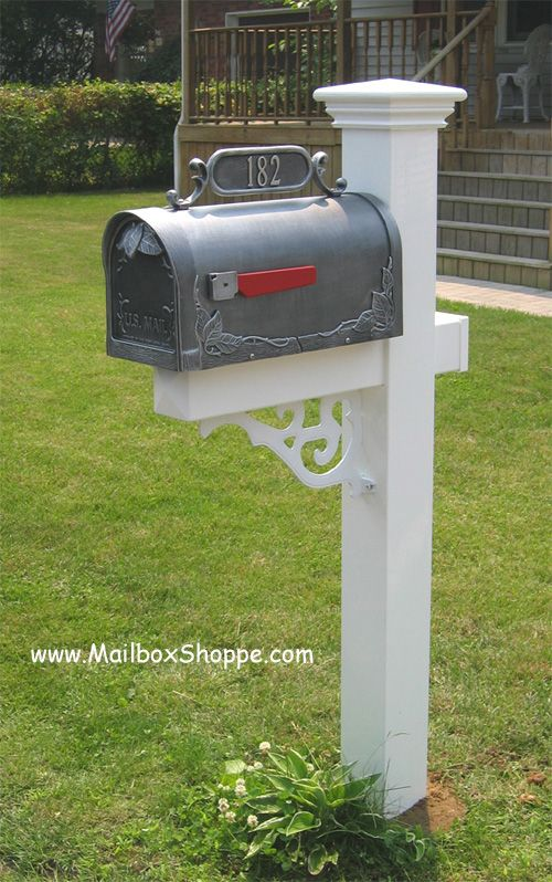36 best exterior inspiration mailbox images on pinterest for Unique mailboxes with post