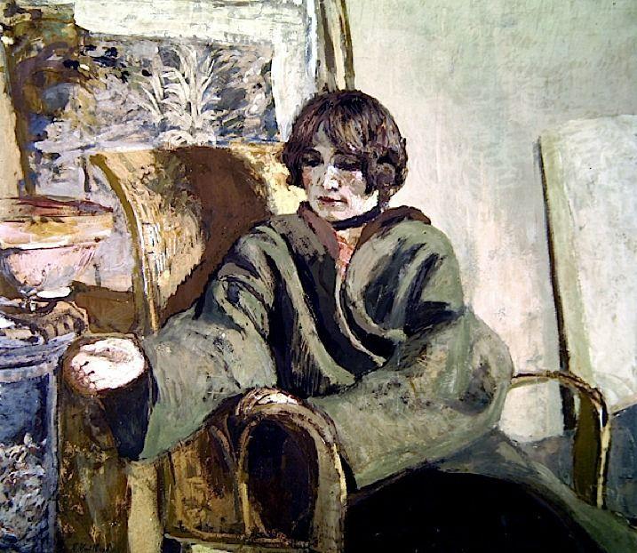 """Résultat de recherche d'images pour """"édouard vuillard woman brushing a garment"""""""