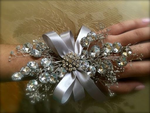 prom wrist corsage silver wrist corsage for by TheCrystalFlower, $65.00?