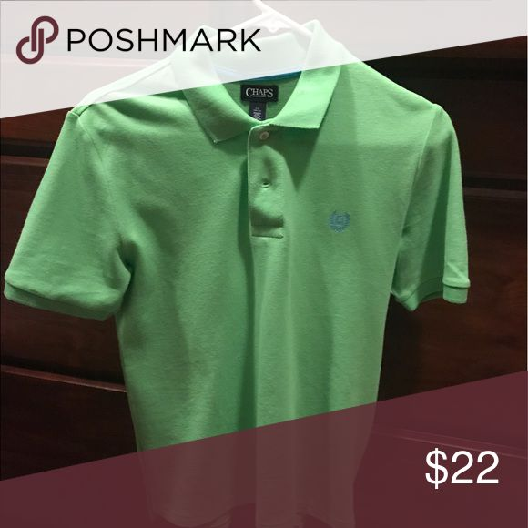 Chaps green boys Polo Green chaps shirt wore once. Chaps Shirts & Tops Polos