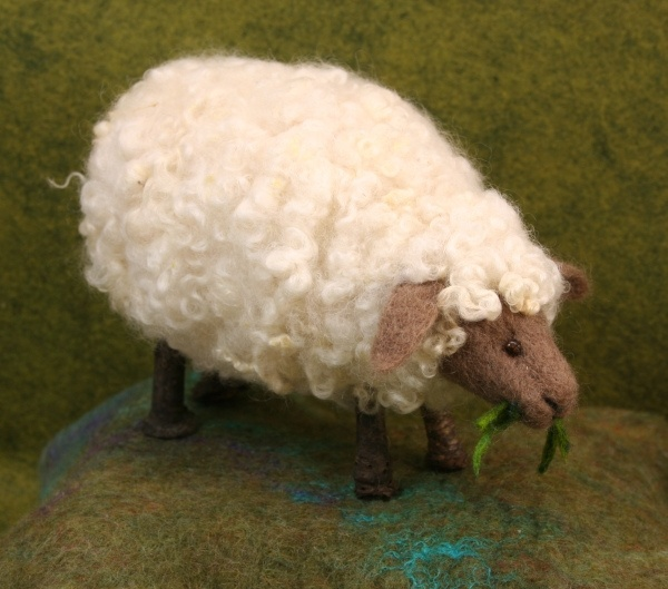 Needle Felted Twig Sheep  by bjmaiee, via Flickr