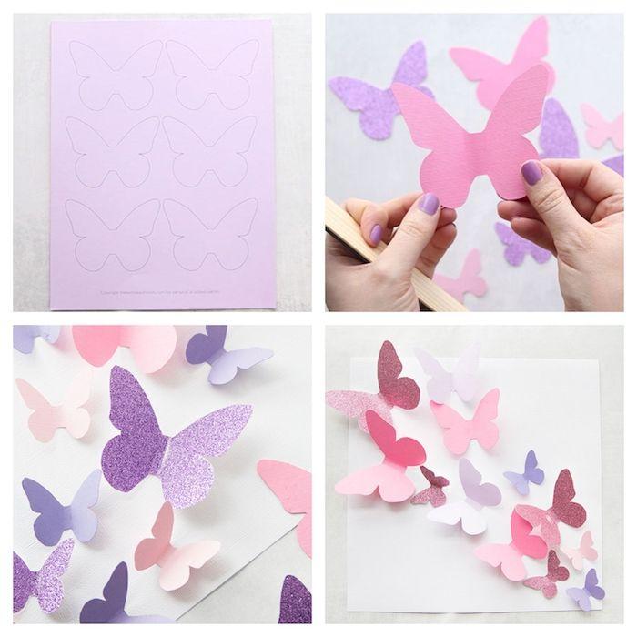 1001 Tolle Ideen Wie Sie Schmetterling Basteln Schmetterlinge Basteln Blumen Basteln Aus Papier Blumen Basteln