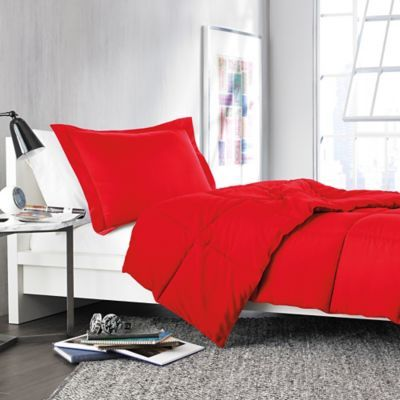 Solid Comforter Set in Red - Looking around for red comforters :)
