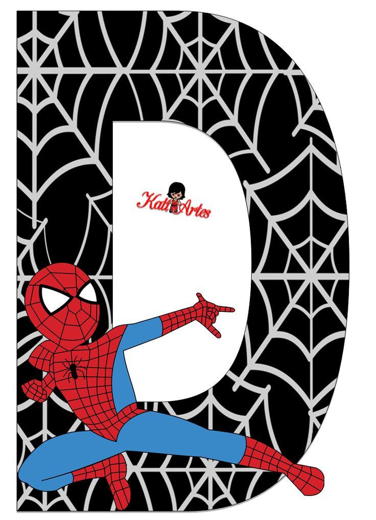 Alfabeto de Spiderman con Fondo Negro. | Oh my Alfabetos!