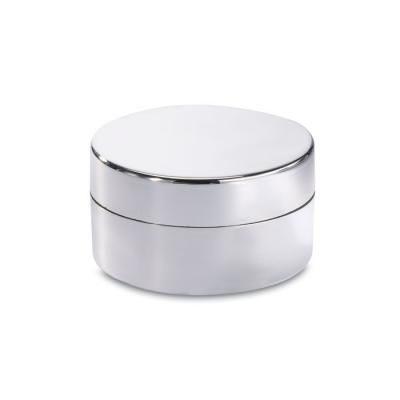 Image of Branded Vanilla Flavoured Lip Balm In shiny silver Round Box